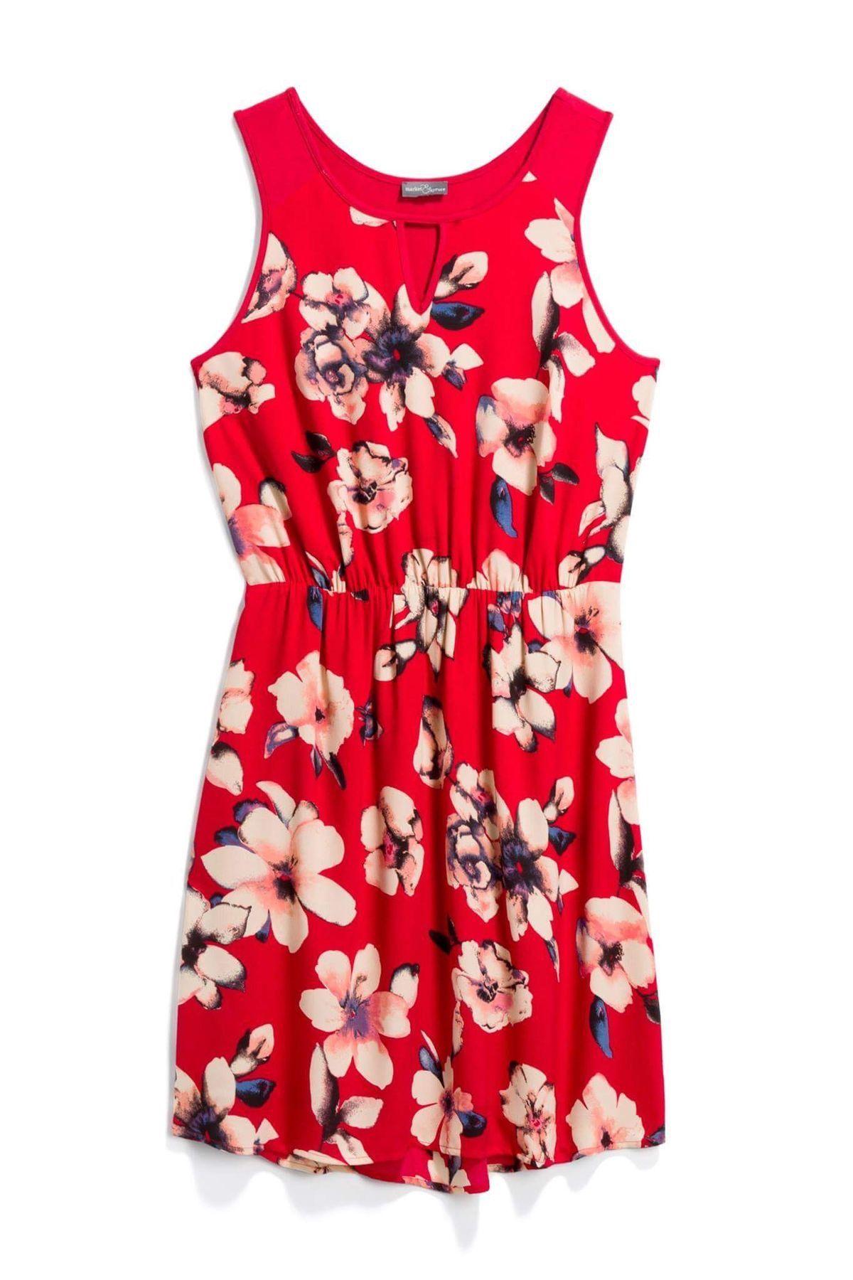 Market u spruce red floral dress stitch fix style quiz