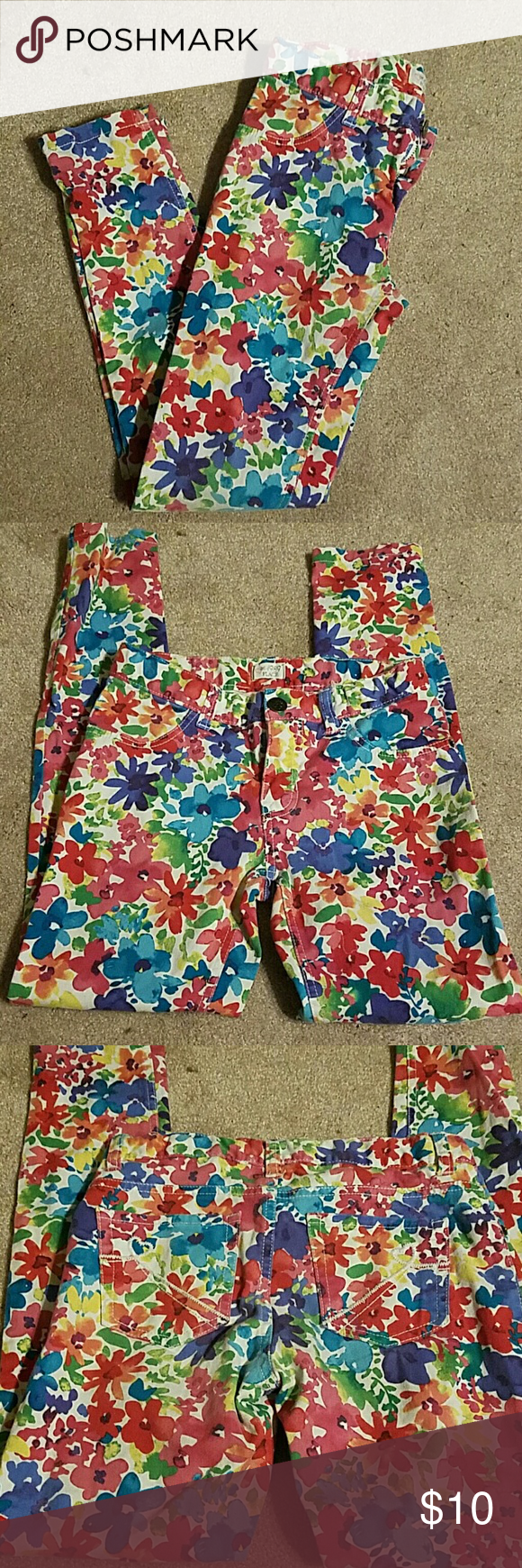 Flower jeans Floral skinny jeans from Children's Place. Children's Place Bottoms Jeans