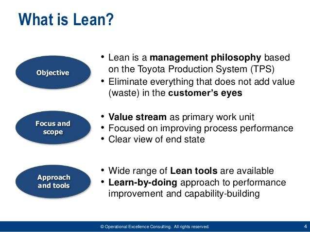 Lean Manufacturing Overview by Operational Excellence Consulting - performance improvement plan definition