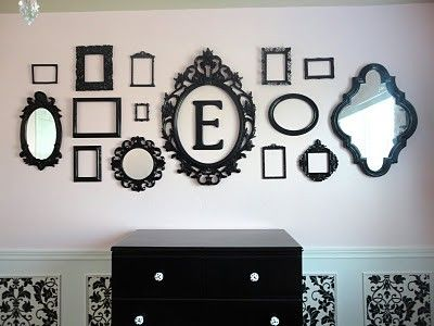 Love the Vintage Frame in the middle with a Monogram of your name or last name