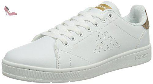 Kappa Court, Baskets Basses Mixte Adulte, Blanc (1030 White/Green), 45 EU