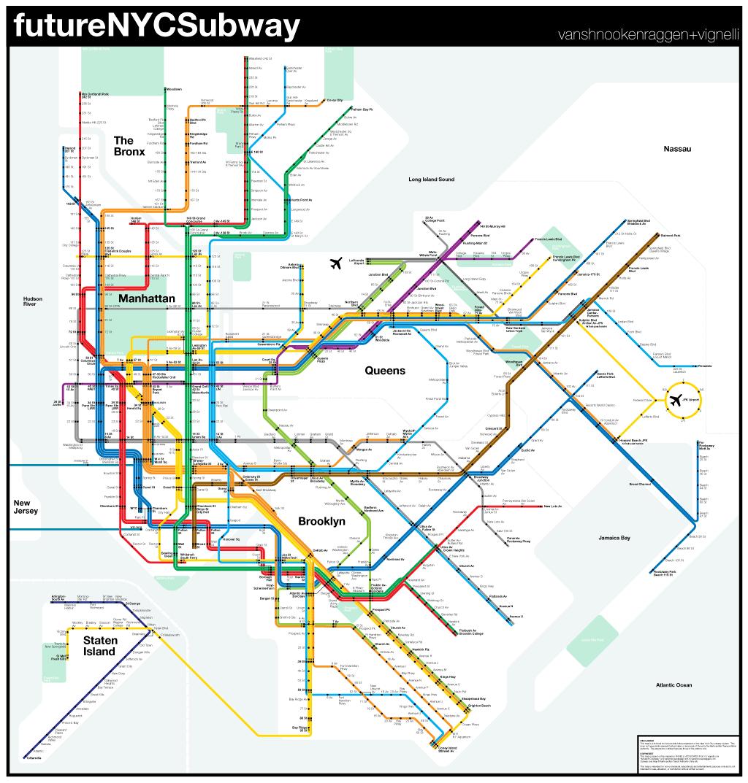 Pdf Of New York Subway Map.Futurenycsubway V2 Transit Nyc Subway Map New York Subway