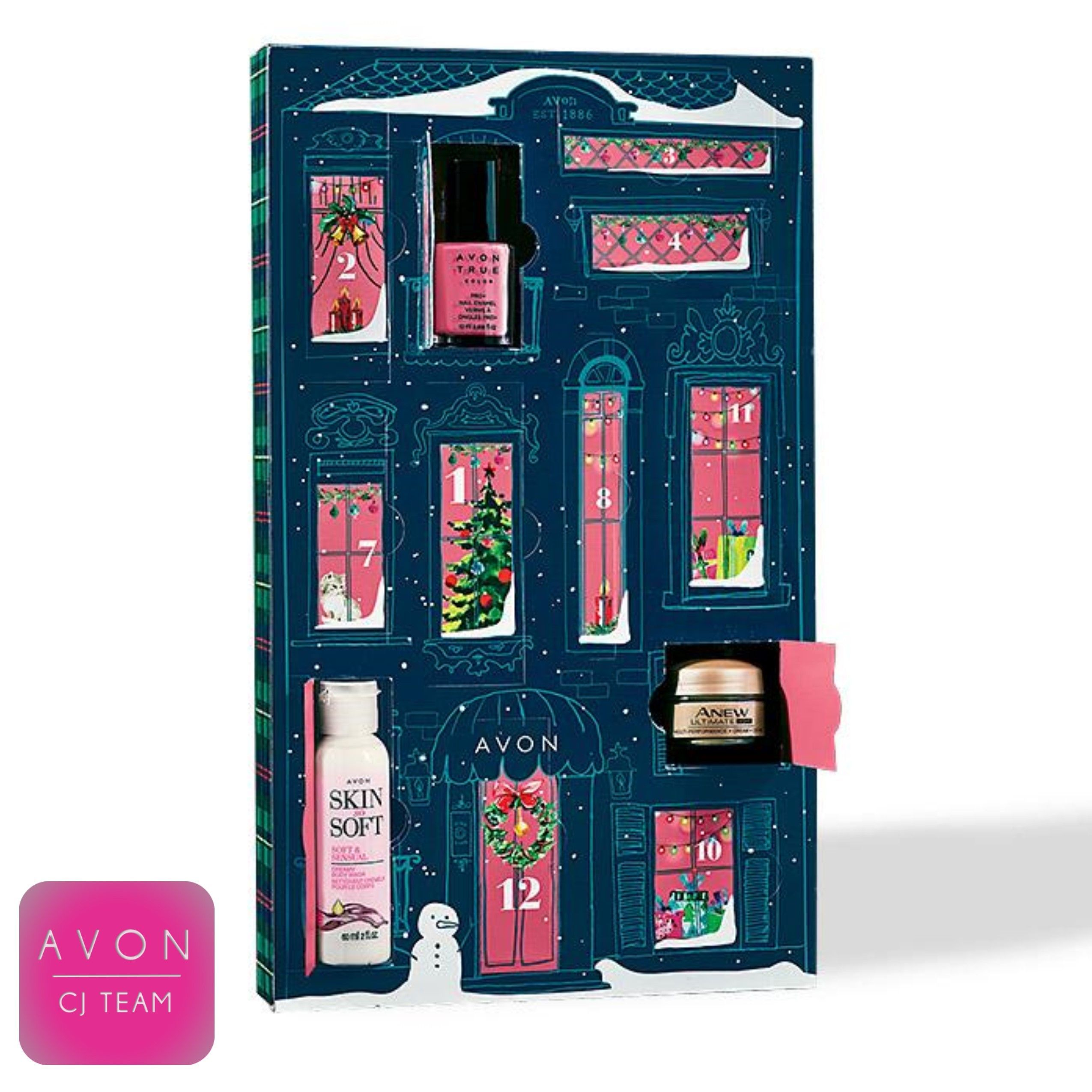 12 Days Of Beauty Beauty Behind Every Door A Beautiful Holiday Surprise For The 12 Days Of Christmas Gift Surp Beauty Calendar Christmas Beauty Avon