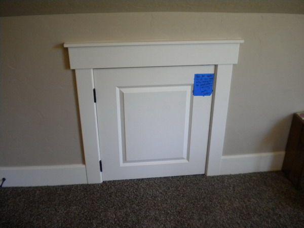 One Panel Attic Access Door Ideas Jpg 600 450 Pixels Attic Access Door Bookcase Door Diy Bookcase Door