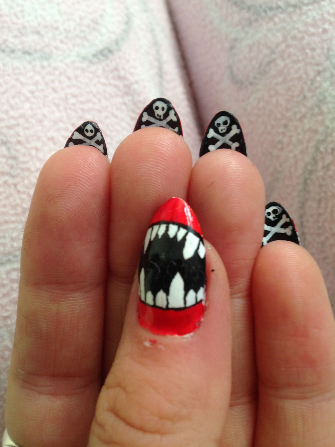 Halloween nails! … | Skull nails, Stylish nails art ...