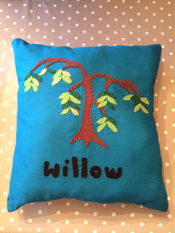 homemade personalised cushion by EffiesRags on Etsy