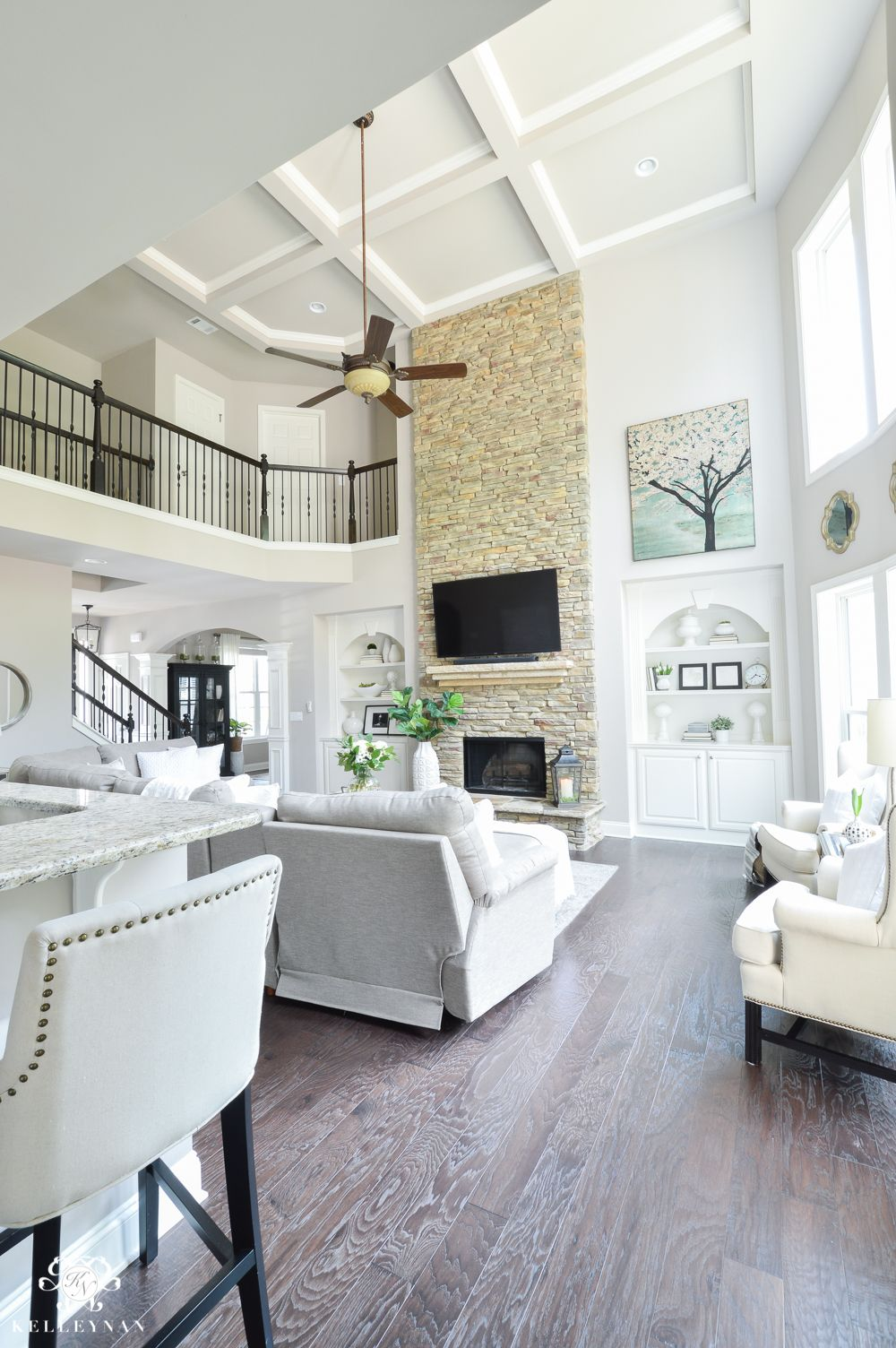 Shades of Summer Home Tour with Neutrals and Naturals- Two story ...