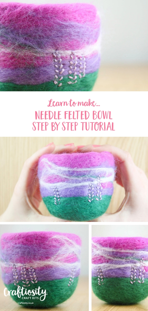 Needle Felted Bowl Craft Kit & Tutorial