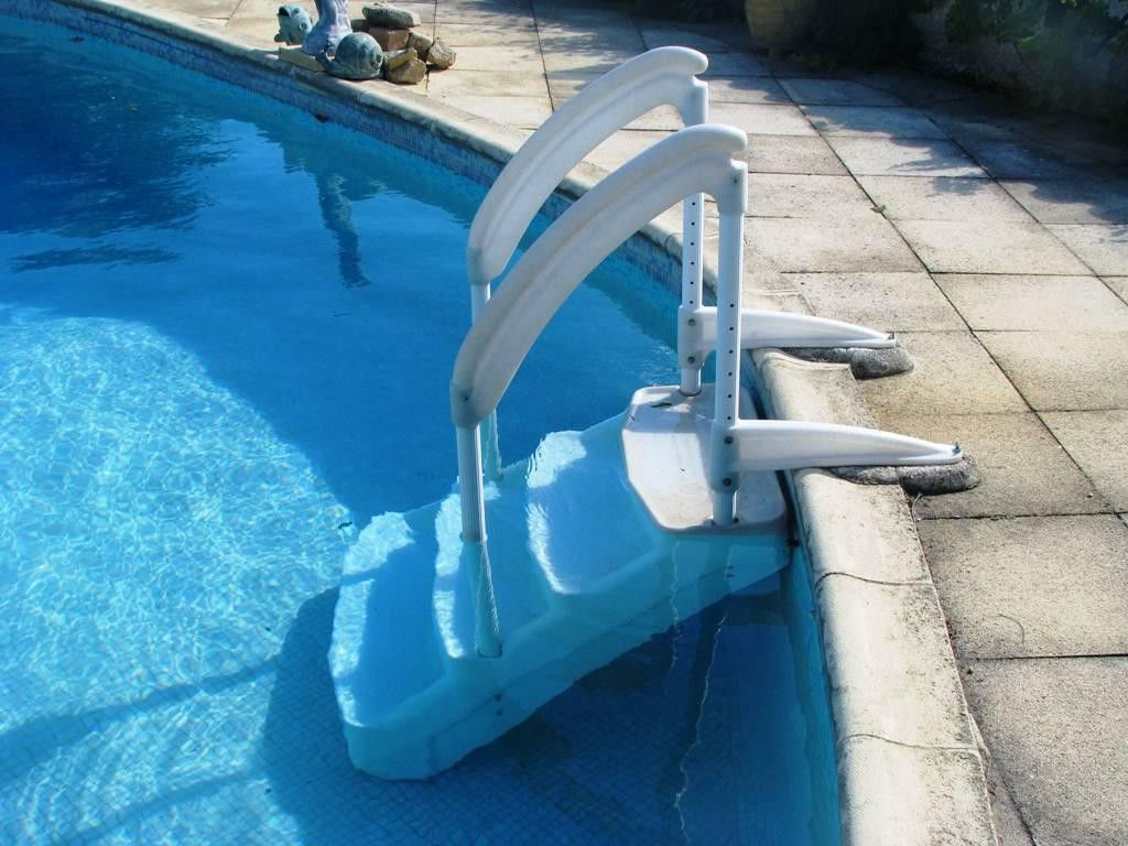 Exterior Excellent Above Ground Pool Stairs Diy from 3