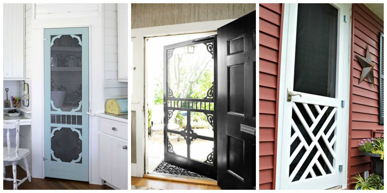 13 Country Chic Ways To Refresh A Screen Door House Exterior