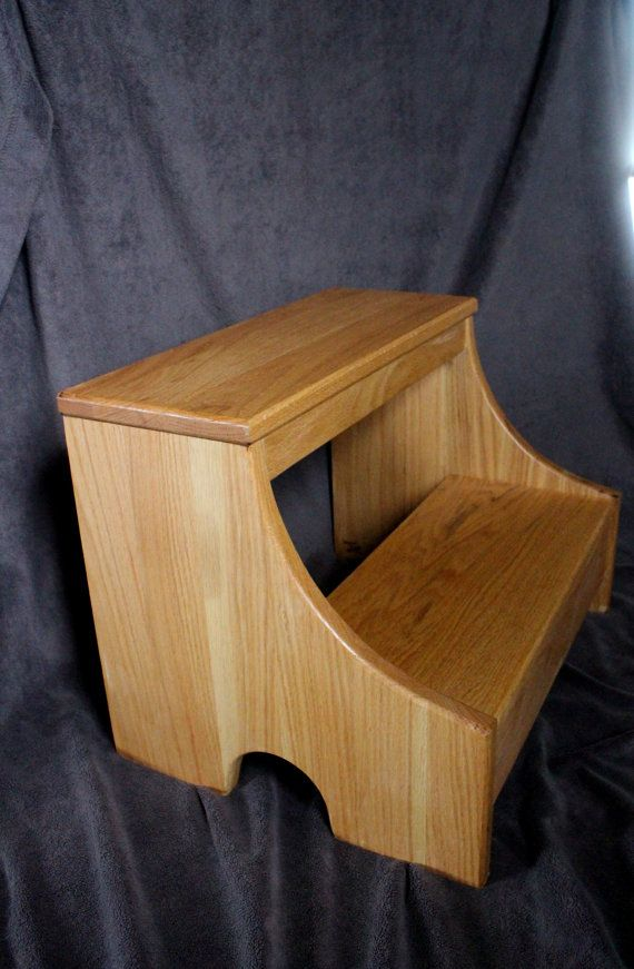 Bed Step Stool: Step Stool For Toddlers, Wooden Kitchen Step Stool