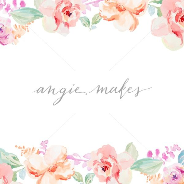 Cute hand painted watercolor flower background frame spring flower cute hand painted watercolor flower background frame spring flower border spring flower frame angie makes stock shop mightylinksfo