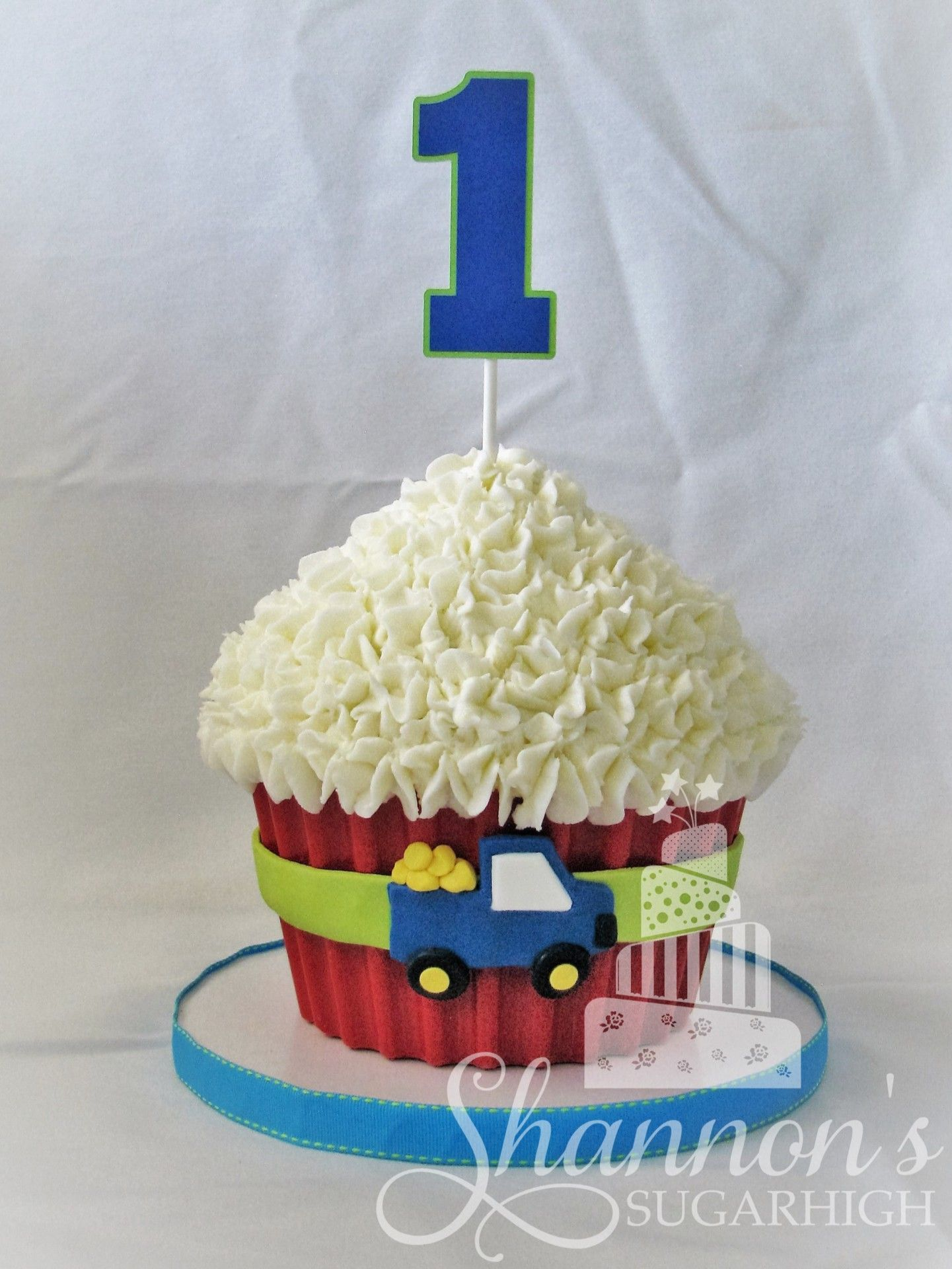 Giant Smash Cupcake For A Little Boy Turning 1 Truck