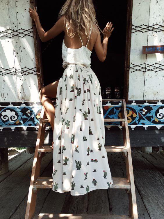 b8a3a2a5f6e Cactus Skirt - that s so cute!! Boho Style