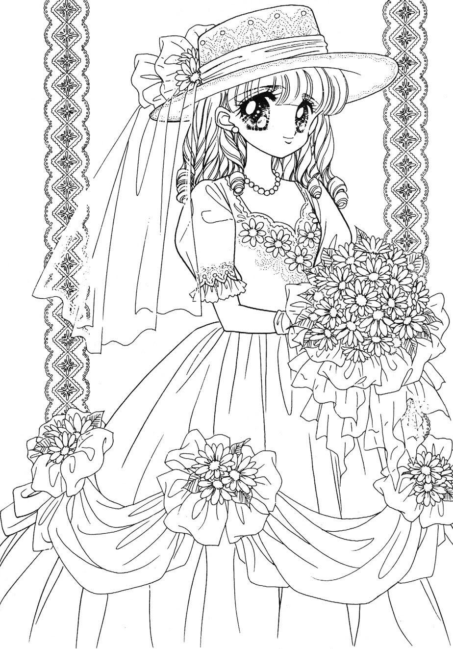 mariage | Coloriage manga, Dessin et Dessin a colorier
