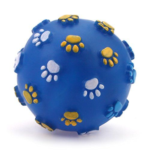 Chiwava 31 Squeak Vinyl Dog Toy Paw Ball Squeaker Puppy Sound Chew
