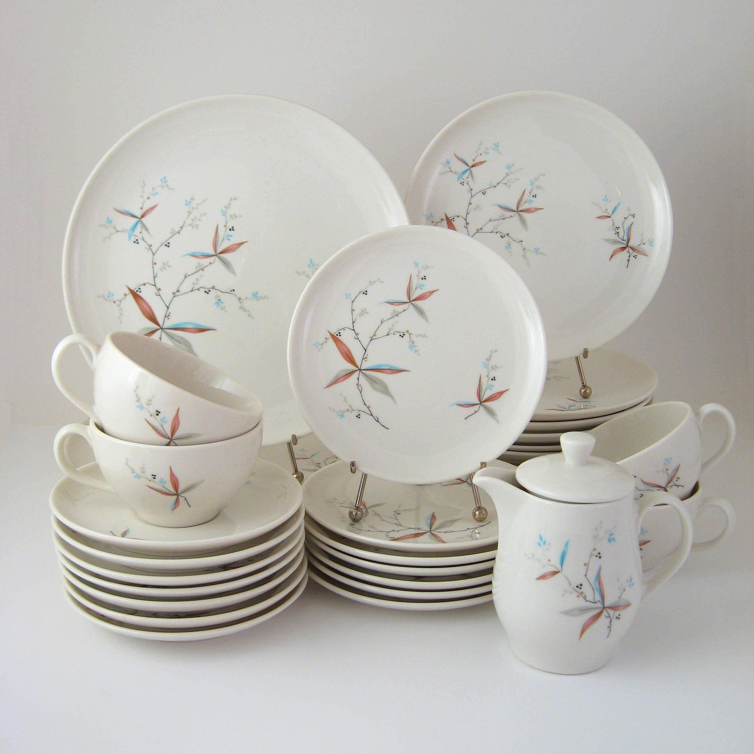 Vintage Dinnerware Set Finesse Carefree True China by Syracuse Vintage Dishes 1950\u0027s 1960\u0027s & Vintage Dinnerware Set Finesse Carefree True China by Syracuse ...