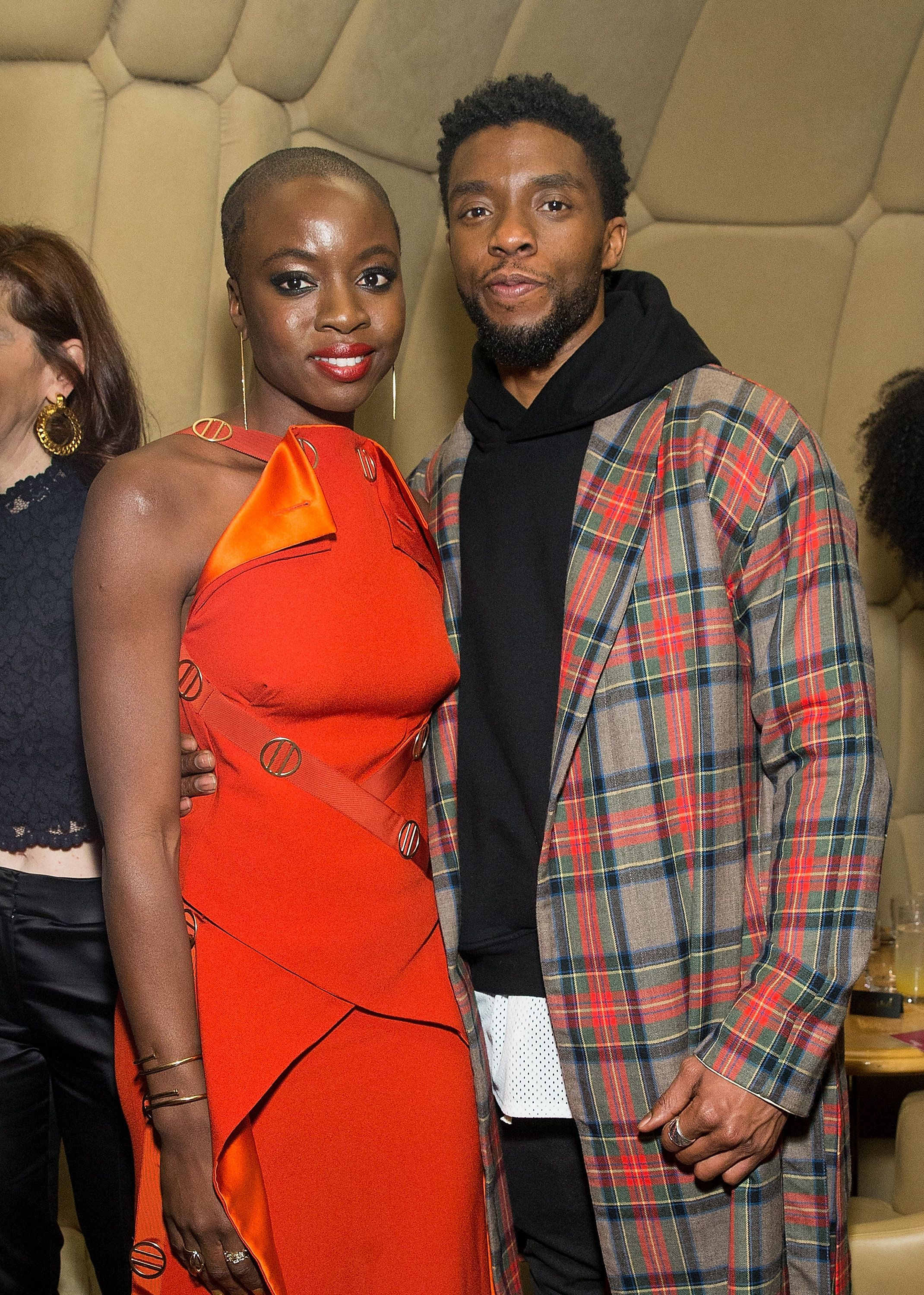 Danai Gurira Lupita Nyong O Michael B Jordan And More Celebs Out And About Celebrities Chadwick Boseman African Beauty