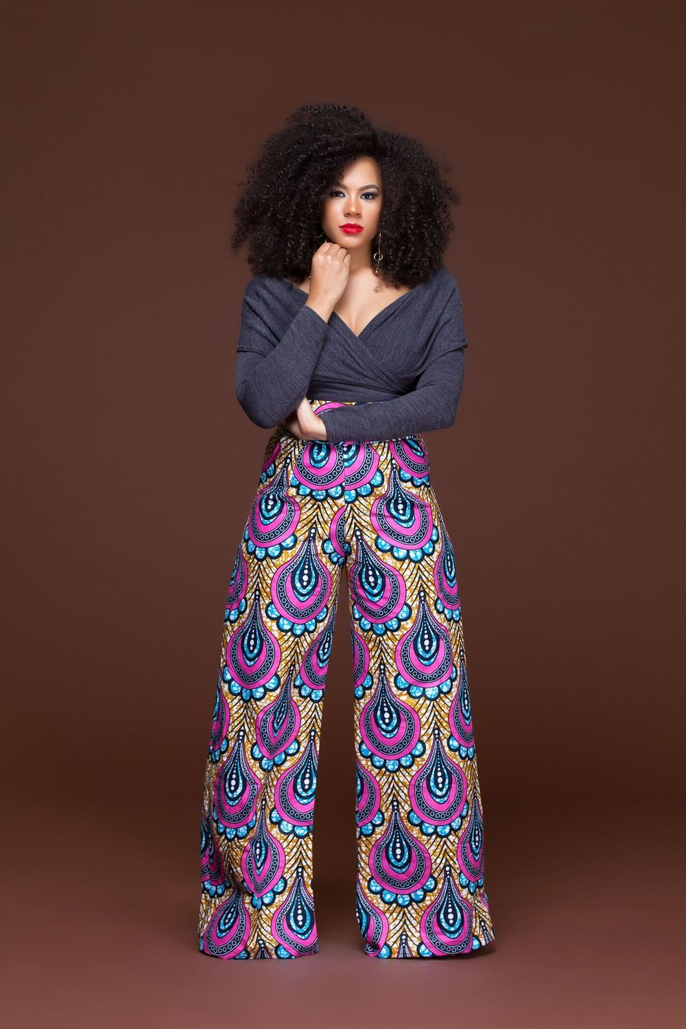 69a1b7d813 Doyon African Print Wide Leg Pants  Grass-Fields  Versatile and perfect for  day or night