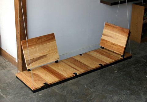 Wooden swing via http://cdn0.lostateminor.com/wp-content/uploads/2012/07/Swing-Lab-2.jpg