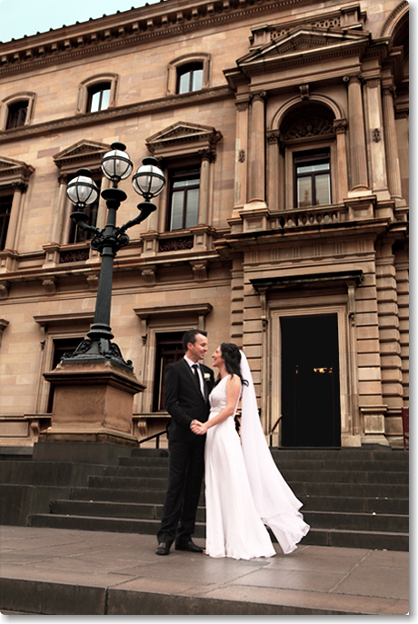 Photo Of A Newly Wed On The Steps Old Treasury Building Venue Victorian Marriage Registry