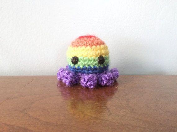 Amigurumi Octopus Mohu : Rainbow pride octopus pride plushies crochet amigurumi lgbt