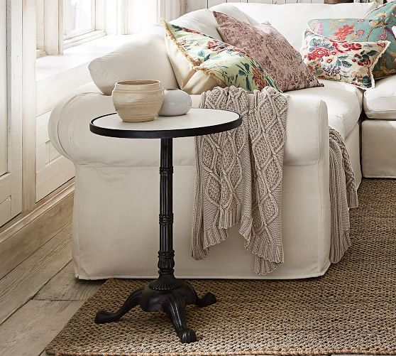 Rae Marble End Table Pottery Barn Marble End Tables