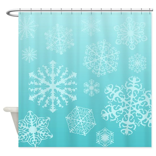 Faux Snowflakes Shower Curtain By Jqdesigns With Images