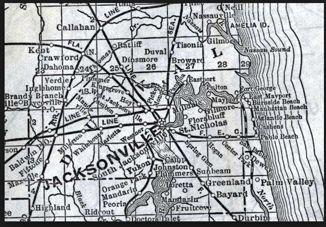 Jacksonville Duval County Florida 1920 R V Rose Moved With