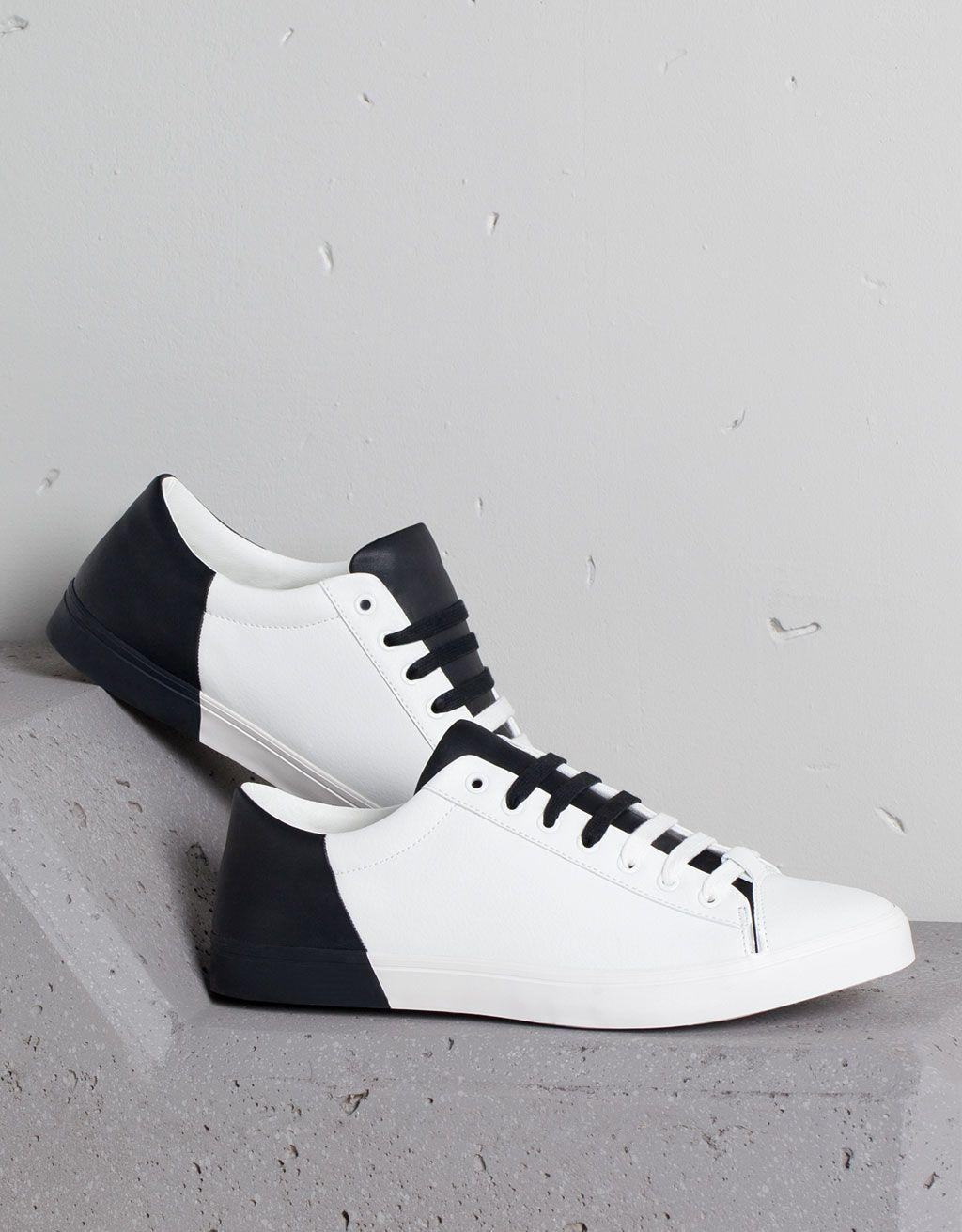 online store 21808 032ac Basic contrast sneakers - Buty - Bershka Poland Zapatos Bershka, Zapatos  2017, Zapatos Casuales