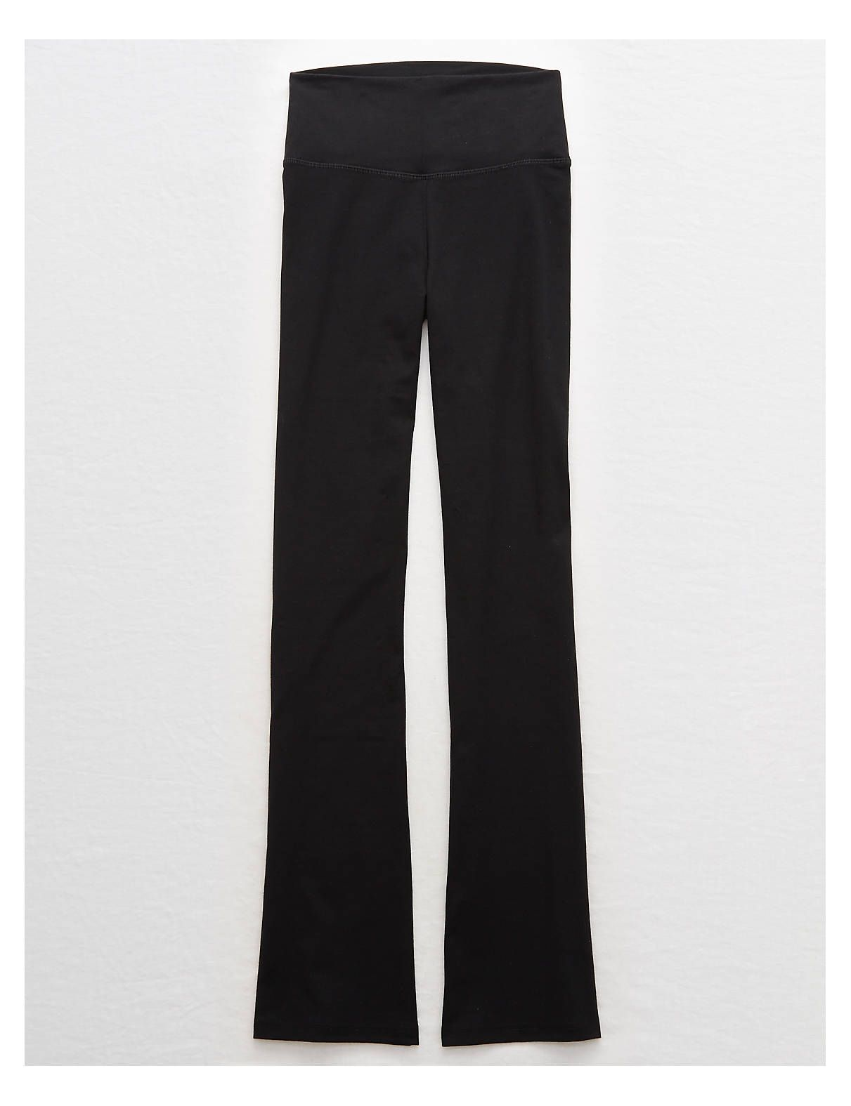 c3c92080d3754 Aerie Chill High Waisted Flare Pant, True Black | Aerie for American Eagle