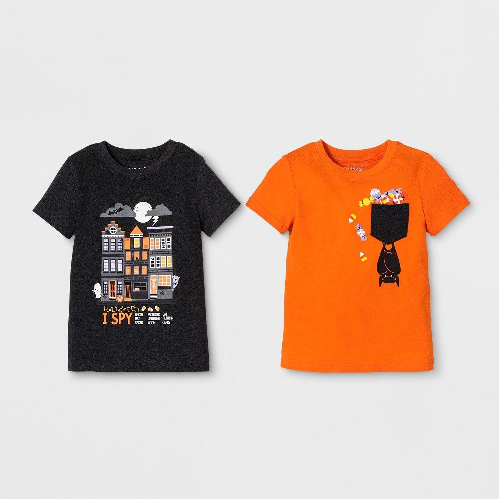 8c661733 Get your little tyke ready for Halloween with the 2-Pack Graphic  Short-Sleeve T-Shirts from Cat and Jack. Made from a soft and breathable  cotton-blend ...