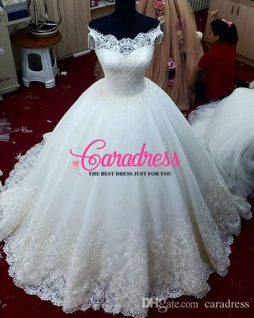 Wedding Dresses Poofy. Discount V Neck Lace Wedding Dresses Puffy ...