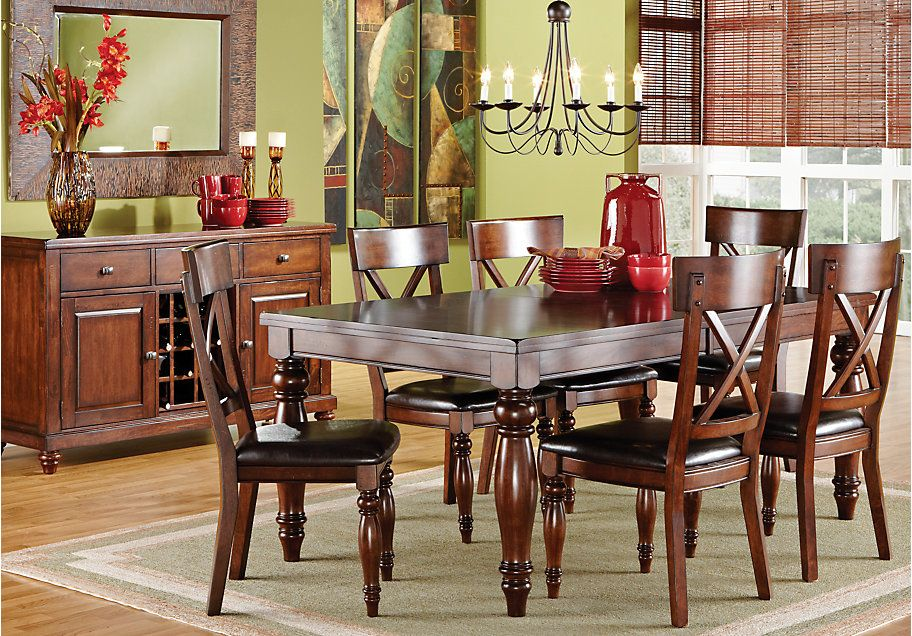 Calistoga Raisin Dining Room Collection Dining Room Sets Rooms To Go Furniture Rectangle Dining Room Set