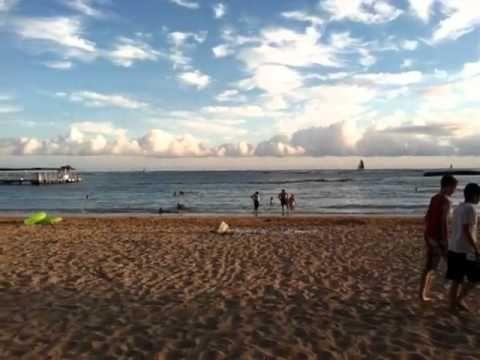 Enjoying The Sunset At Waikiki Beach