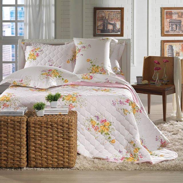 Que tal levar flores para decorar o seu quarto? O jogo de cama Córdoba é a opção ideal. 💐 #karsten #allegra #cordoba