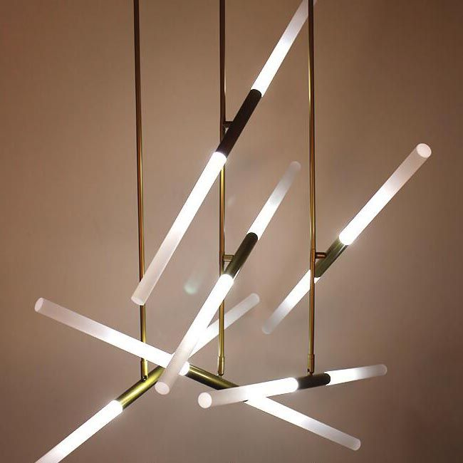 Modern Led Strips Pendant Lighting 12284 Source In 2019