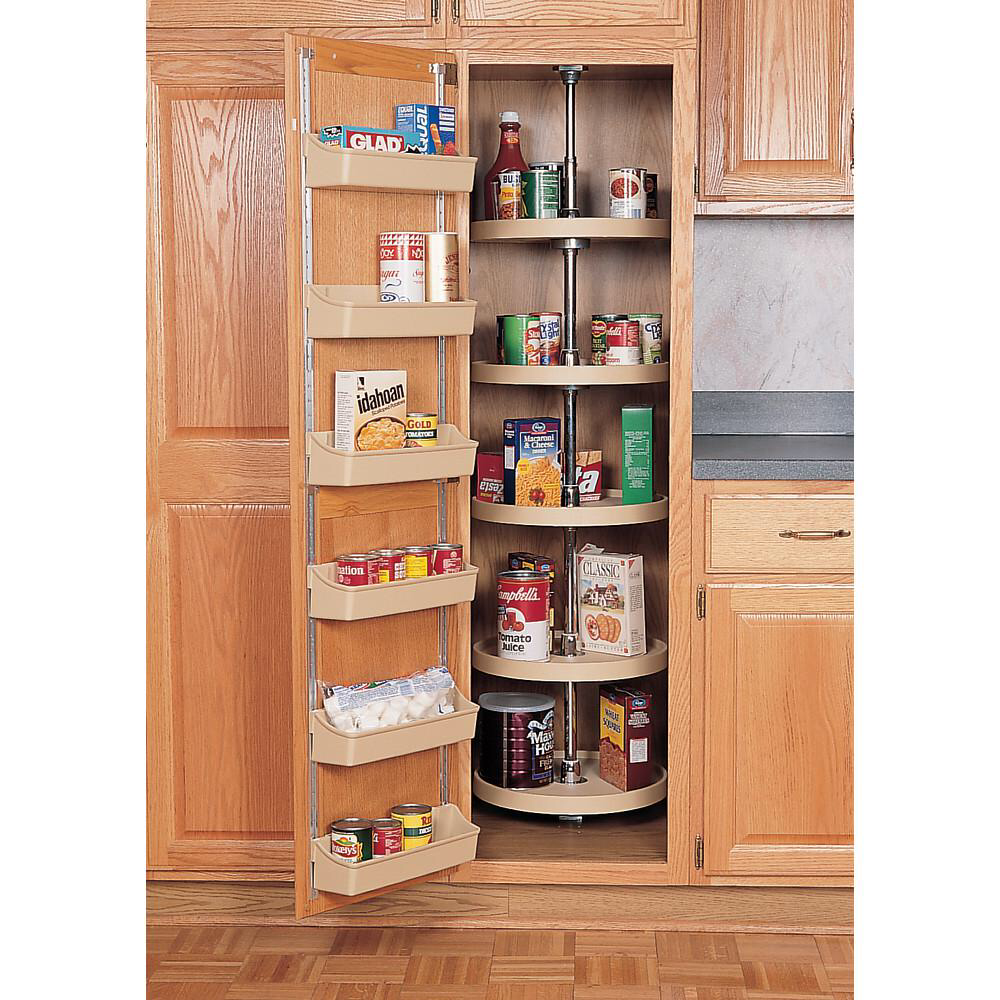 Rev A Shelf 16 In Almond Polymer Pantry Full Circle Lazy Susans 6065 16 15 52 The Home Depot Kitchen Pantry Design Kitchen Pantry Cabinets Kitchen Pantry Cupboard