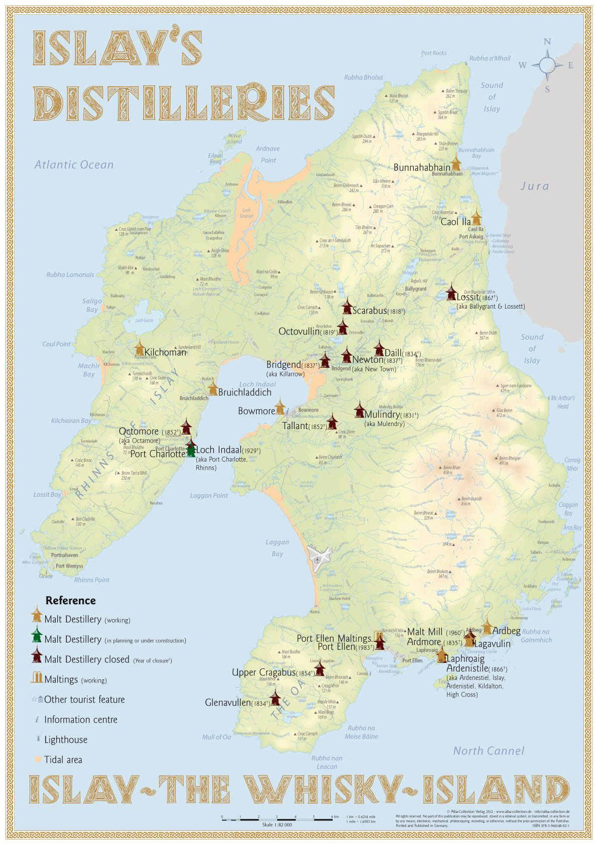 scotland u0027s distilleries map 3rd edition 2013 poster with all
