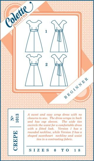 Colette Patterns Crepe Wrap Dress | Pinterest