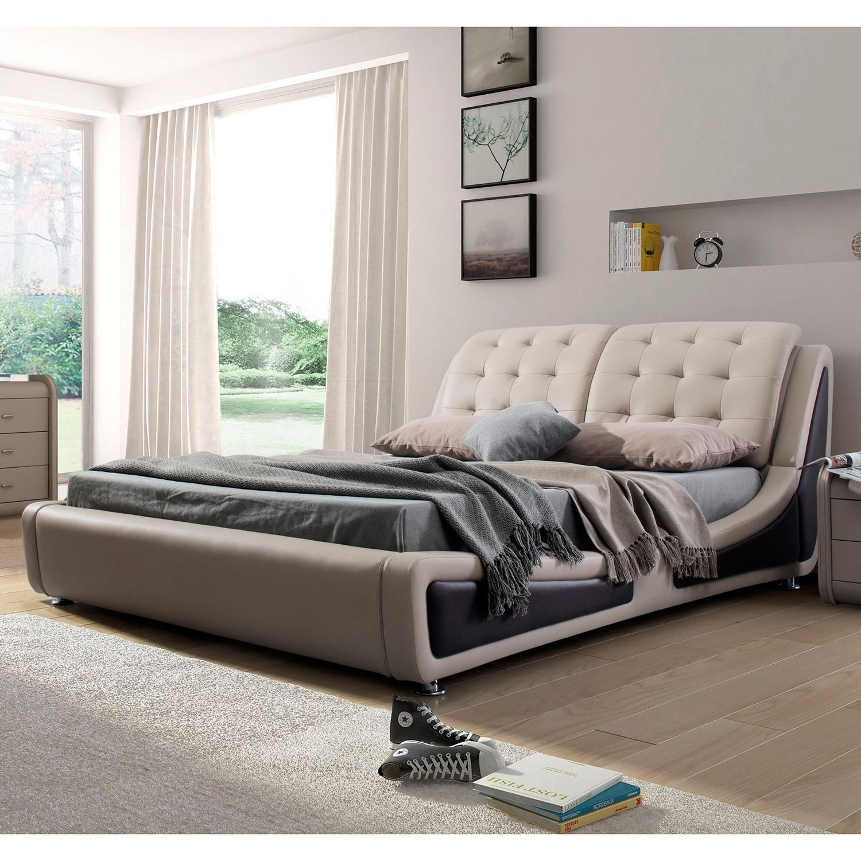 US Pride Furniture Olivia Brown Contemporary Brown/ Black Faux ...