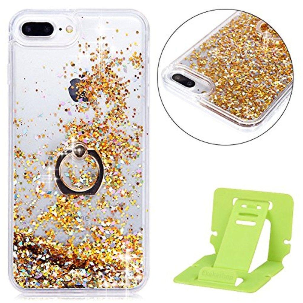 coque iphone 6 paillette liquide avec bague