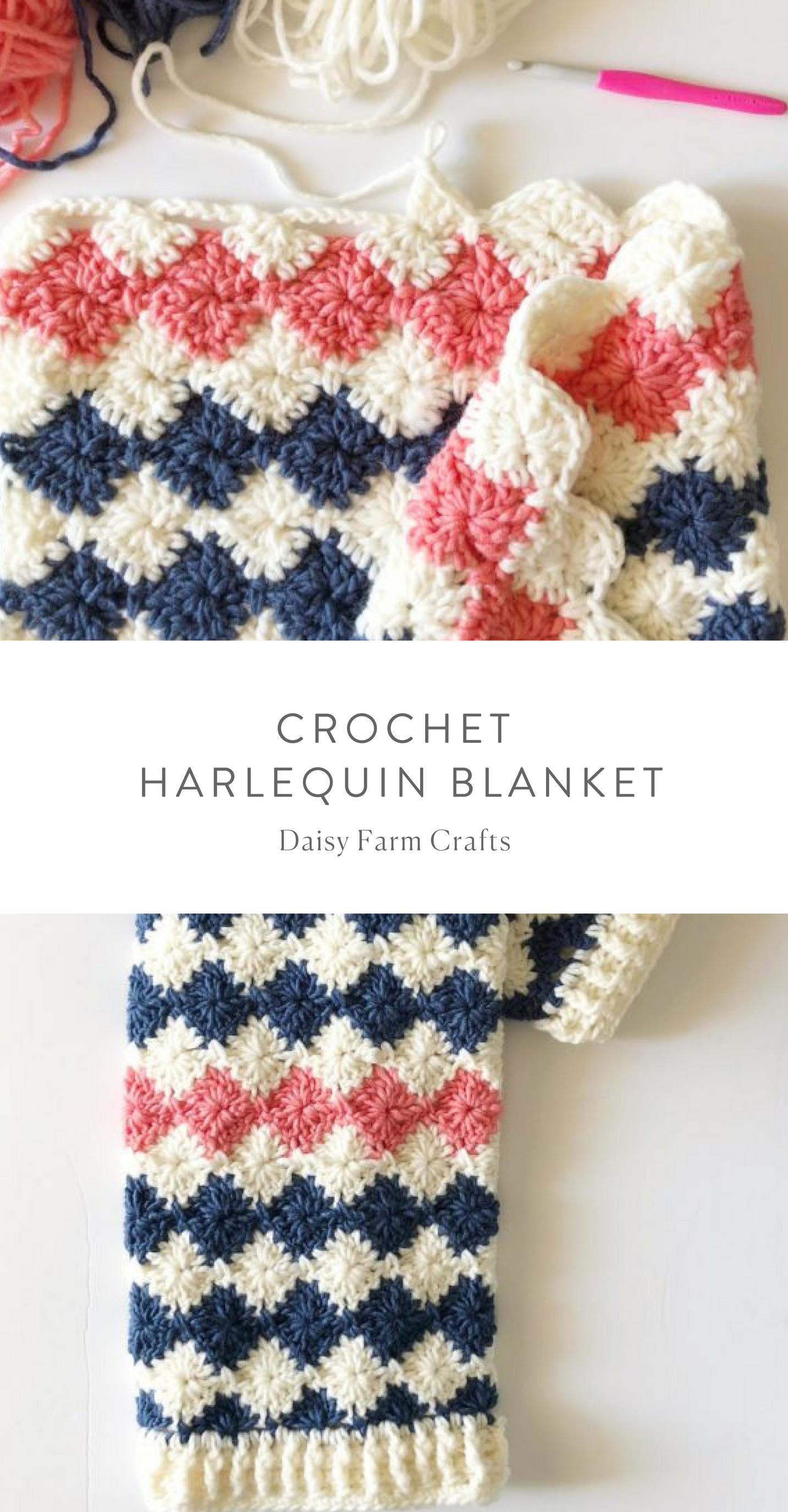 Free pattern - Crochet Harlequin Blanket #crochet | My Crochet ...