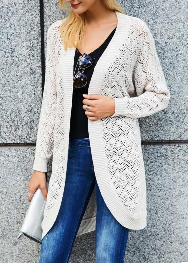 Ladies New Grey Black Long Jacket Top Open Front Cardi Womens Plus Size 16-28