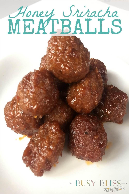 Honey Sriracha Meatballs Recipe Crock Pot Meatballs Best