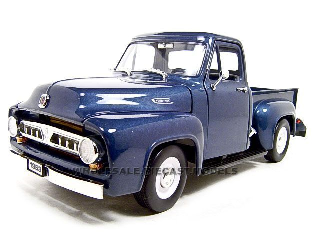 1953 sheridan blue ford truck 1953 ford f 100 pickup diecast model1953 sheridan blue ford truck 1953 ford f 100 pickup diecast model dark blue 1 18 die cast car by