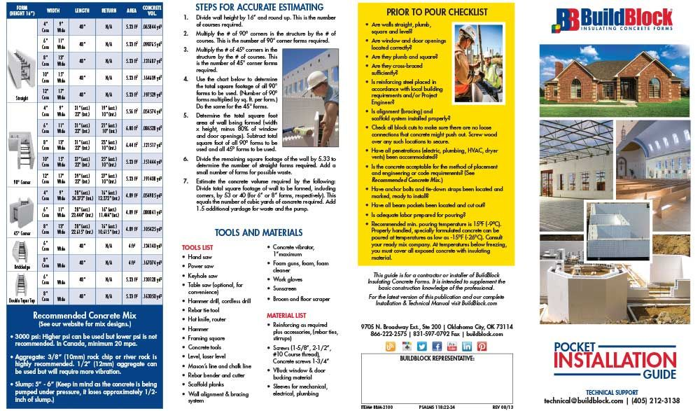 Product Brochures - BuildBlock Insulating Concrete Forms