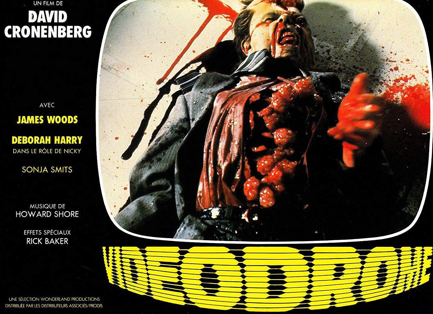 Videodrome (1983) Horror, Lobby cards, Horror films