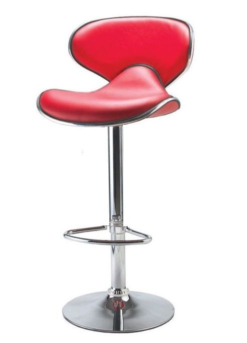Enjoyable Galaxy Red Faux Leather Bar Stool Kitchen Leather Bar Evergreenethics Interior Chair Design Evergreenethicsorg