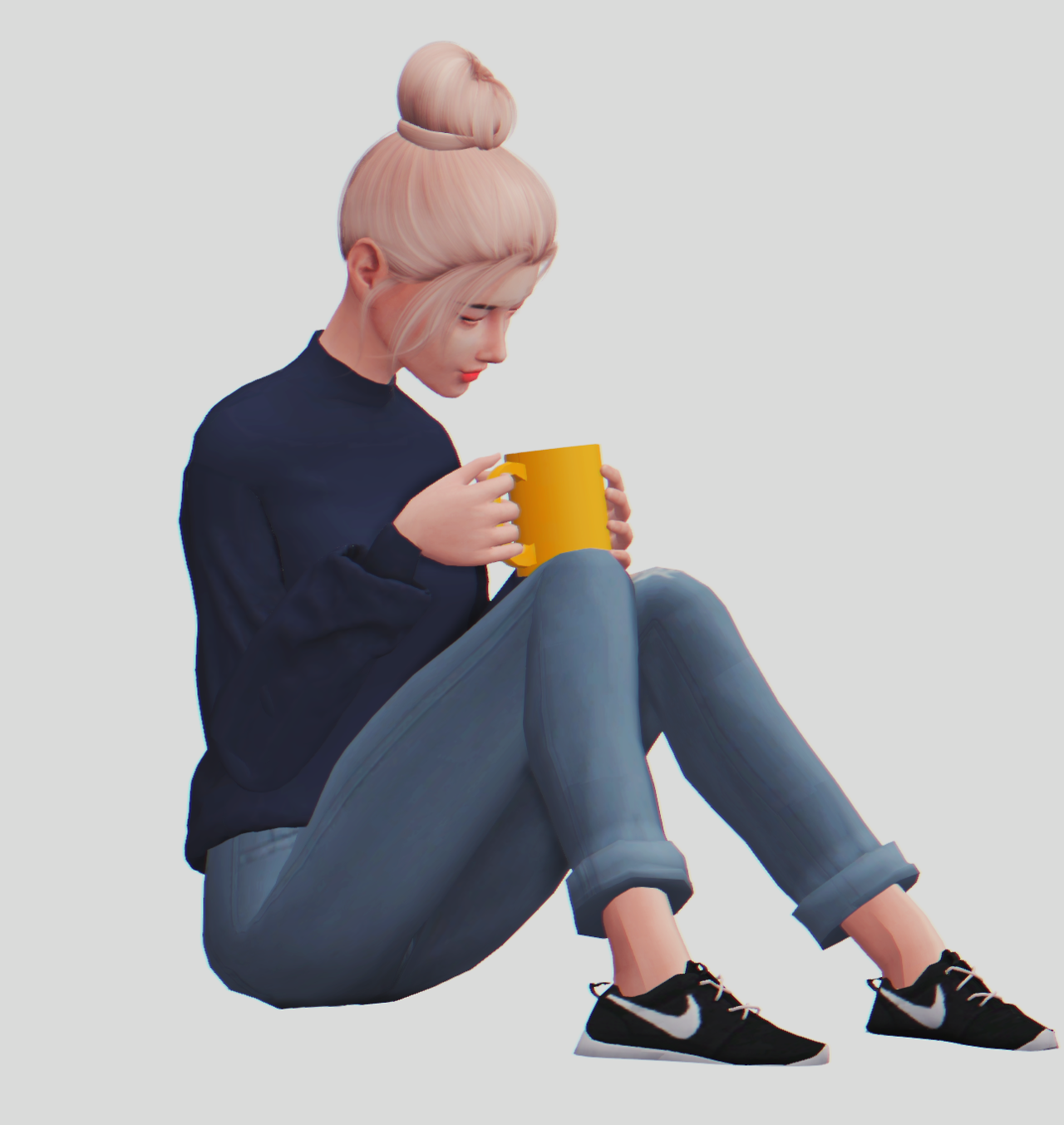 Cozy Poses by ambrosiay Sims 4